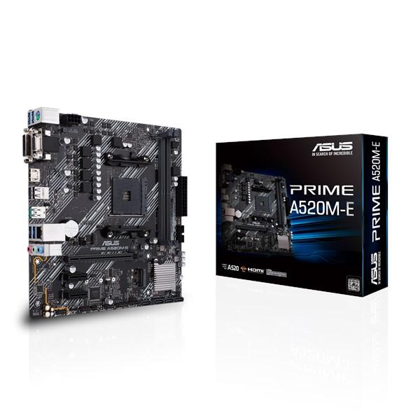 Placa-Mãe Asus Prime A520M-E AMD AM4 mATX DDR4
