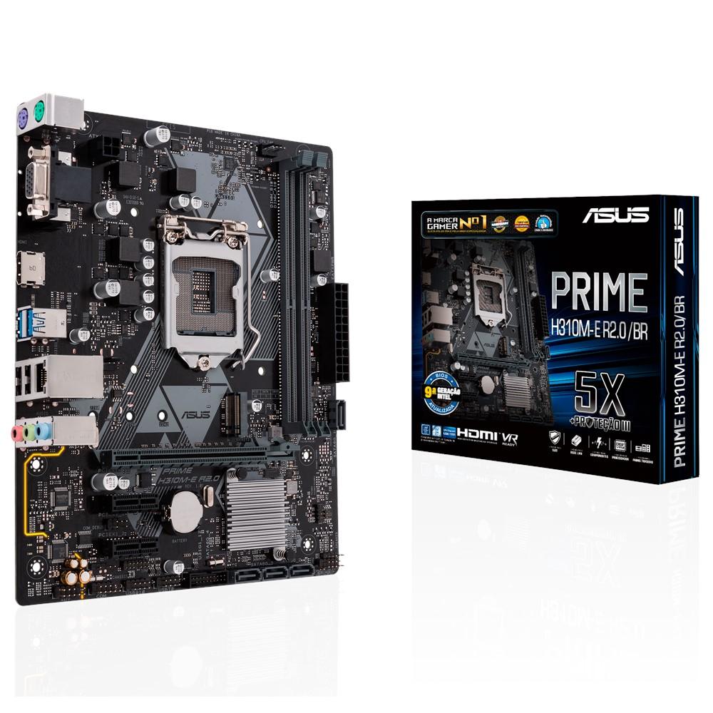 Placa-Mãe Asus Prime H310M-E R2.0/BR Intel LGA 1151 mATX DDR4