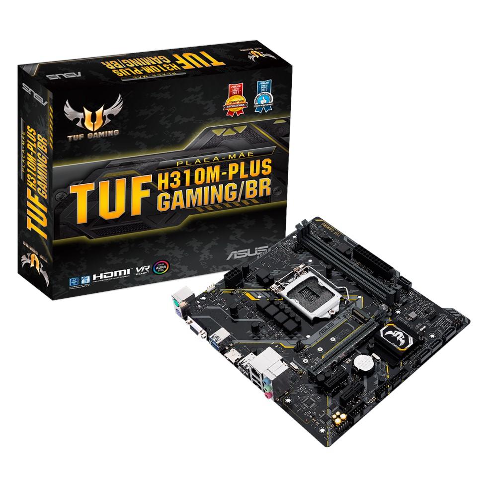 Placa-Mãe Asus TUF H310M-Plus Gaming/BR Intel LGA 1151 mATX DDR4