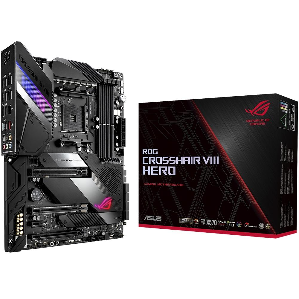 Placa-Mãe Asus ROG Crosshair VIII Hero AMD AM4 ATX DDR4