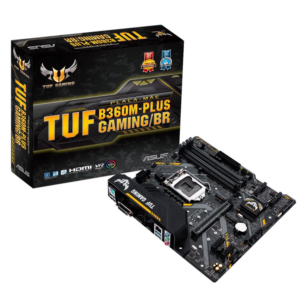 Placa-Mãe Asus TUF B360M-Plus Gaming/BR Intel LGA 1151 mATX DDR4
