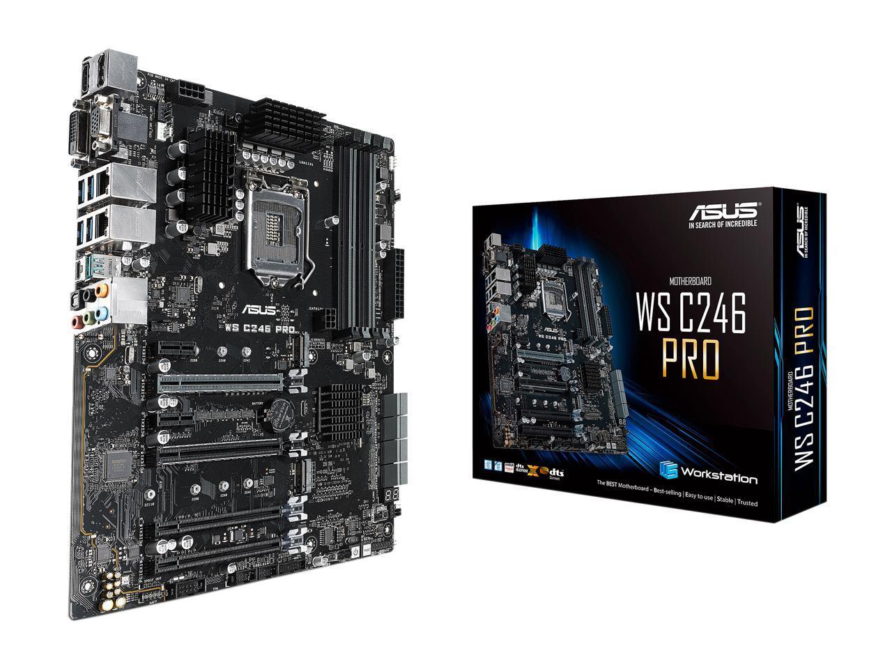Placa-Mãe Asus WS C246 PRO Intel LGA 1151 ATX DDR4