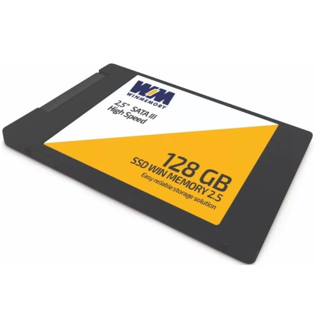 SSD Win Memory 128GB Sata Leitura 560 MB/s Gravação 540 MB/s
