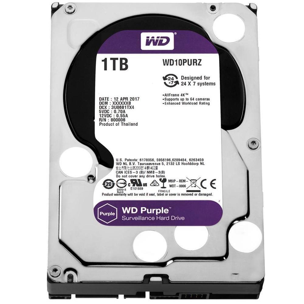 HD WD Purple Surveillance 1TB 3.5' CFTV SATA