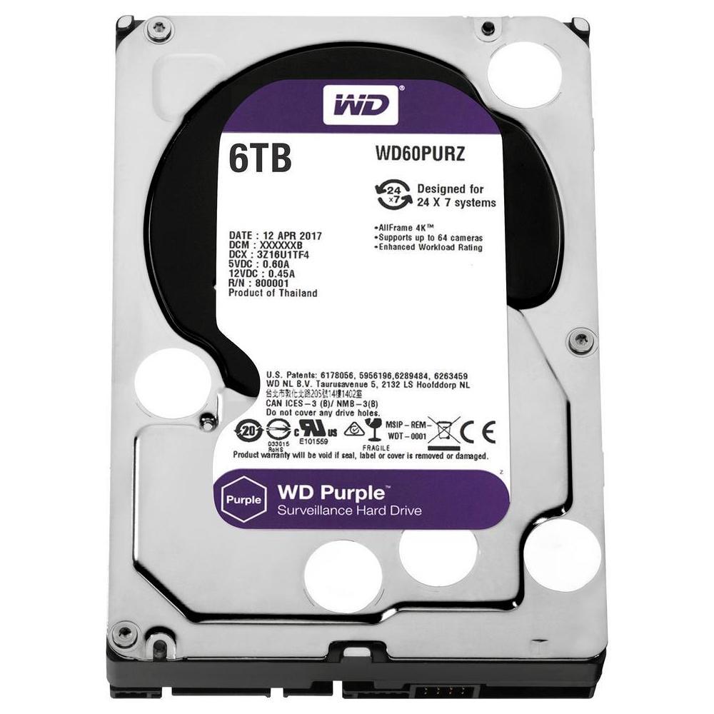 HD WD Purple Surveillance 6TB 3.5' CFTV SATA