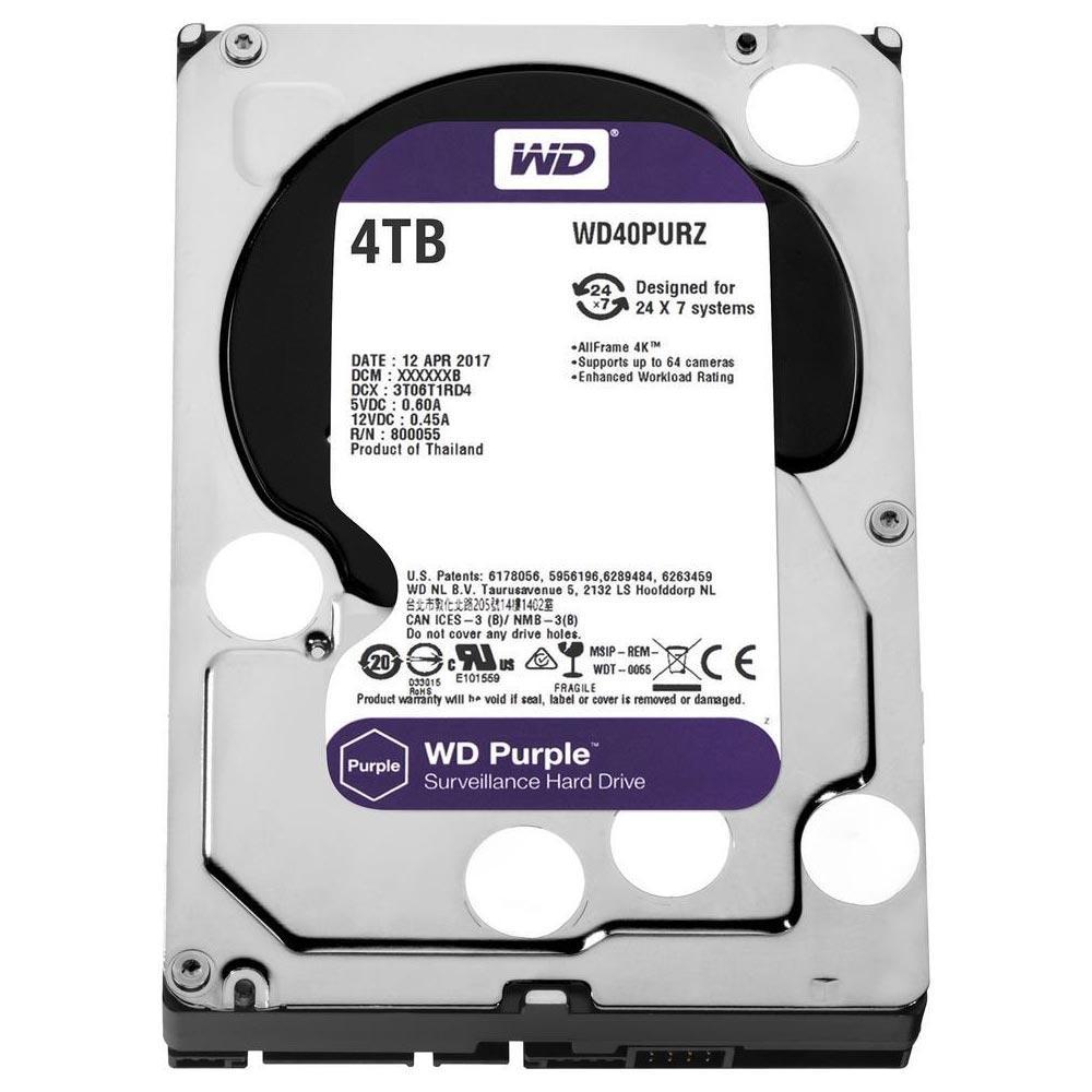 HD WD Purple Surveillance 4TB 3.5' CFTV SATA