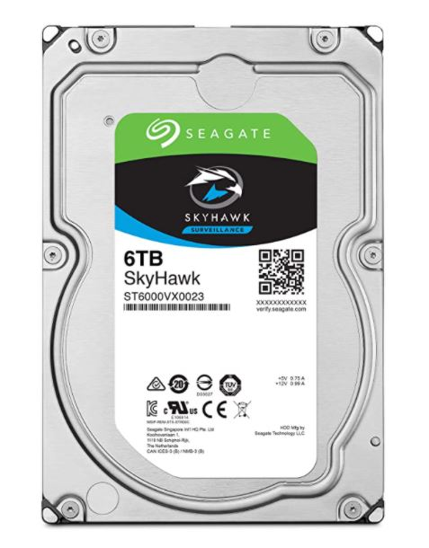 "HD Seagate Surveillance SkyHawk 06TB 3.5"" SATA"