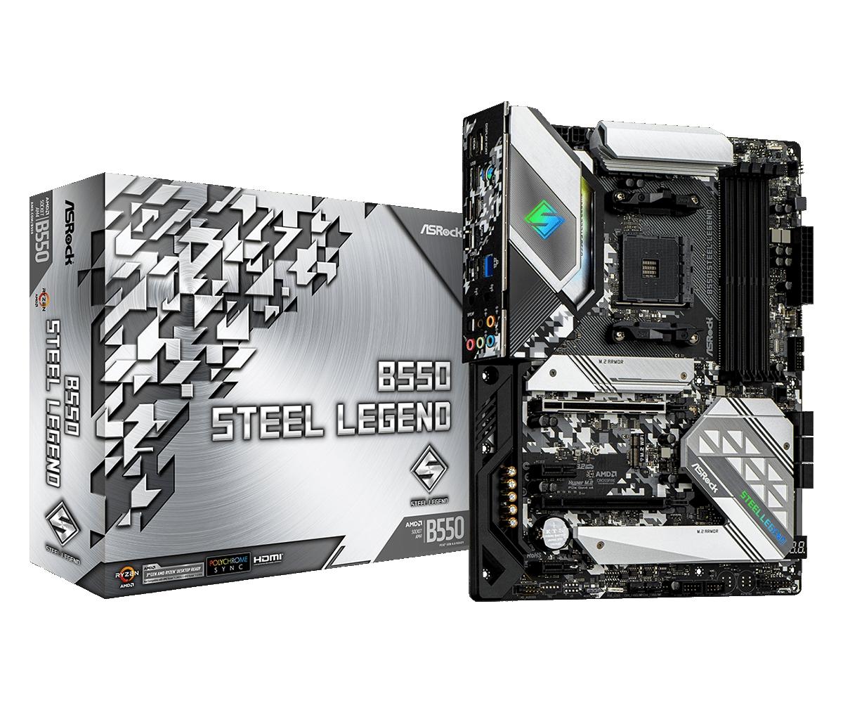 Placa-Mãe ASRock B550 Steel Legend AMD AM4 ATX DDR4