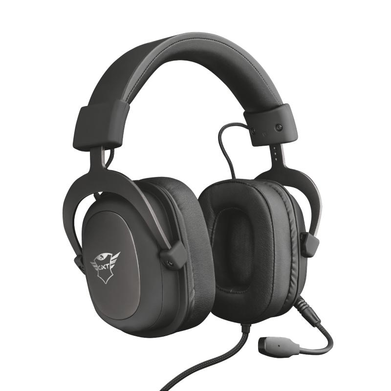 Headset Gamer Trust GXT 414 Zamak Premium Mult Preto