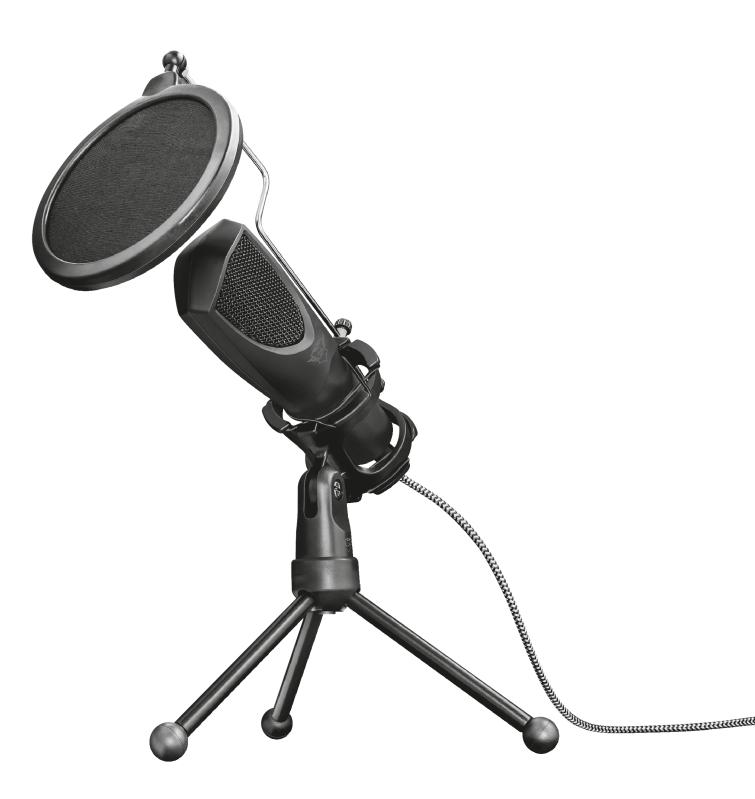 Microfone Gamer Trust GXT 232 Mantis USB Streaming