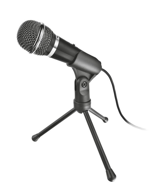 Microfone Versátil Trust Starzz para PC e Laptop Preto