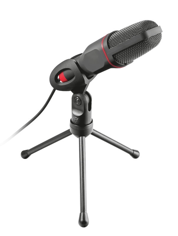 Microfone Gamer Trust GXT 212 Mico USB/P2 Vermelho
