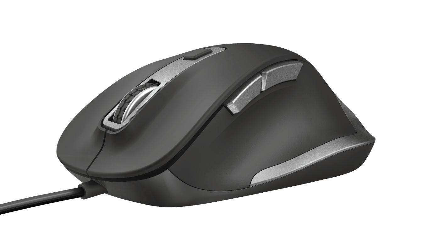 Mouse Trust Fyda Comfort USB 5000DPI Preto