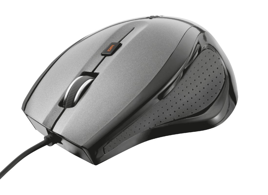 Mouse Trust MaxTrack Comfort USB 1600DPI Preto