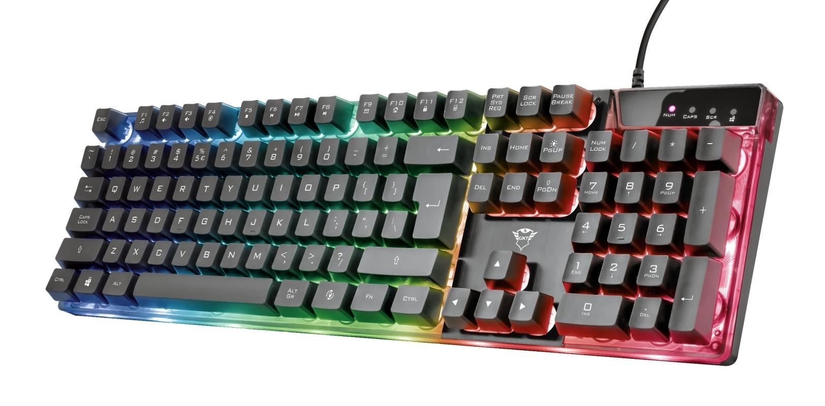 Teclado Gamer Trust GXT 835 Azor Iluminado Rainbow