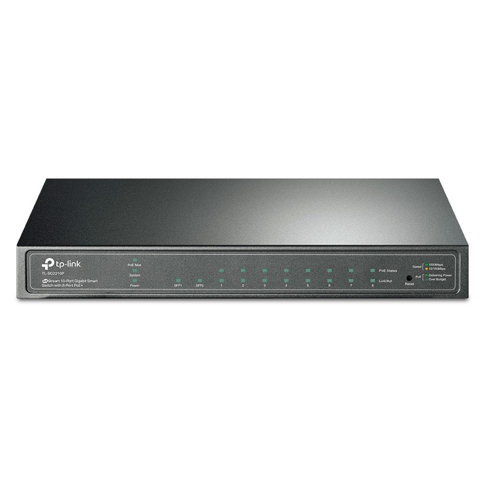Switch TP-Link TL-SG2210P Smart Gigabit 8Portas PoE+ 2Slots