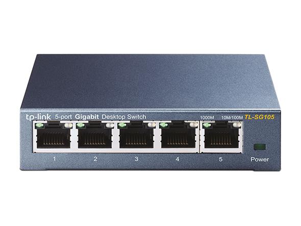 Switch TP-Link TL-SG105 5 Portas Gigabit 10/1000 Mbps