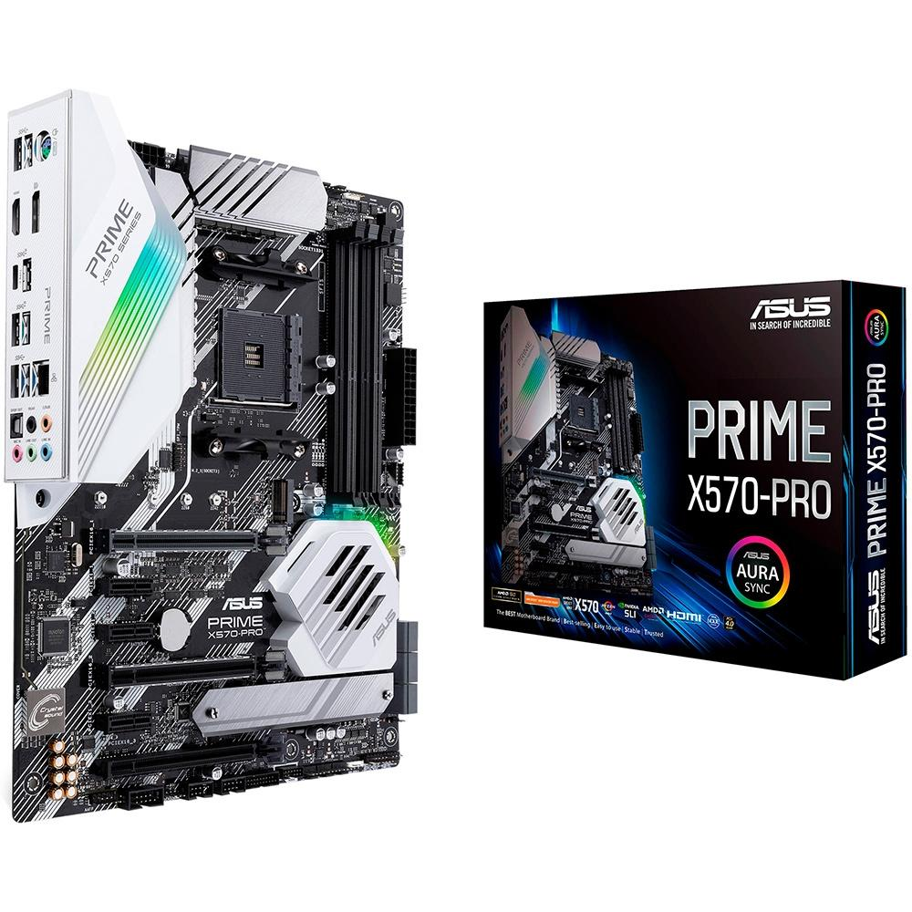 Placa-Mãe Asus Prime X570-Pro AMD AM4 ATX DDR4
