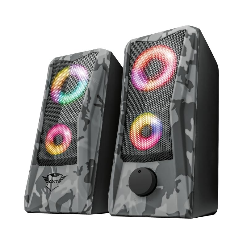 Caixa de Som Gamer Trust GXT 606 Javv RGB Iluminado 2.0