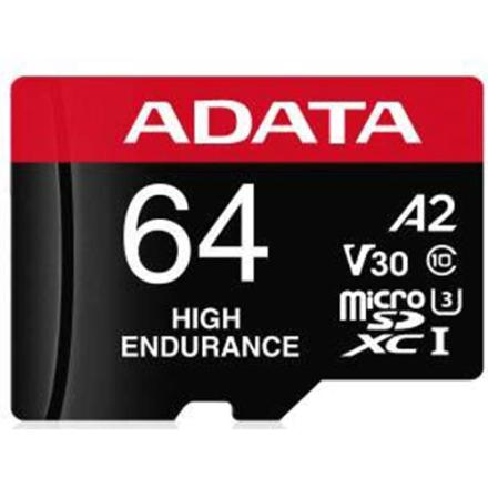 Cartão de Memória Adata MicroSDXC High Endurance 64GB C10