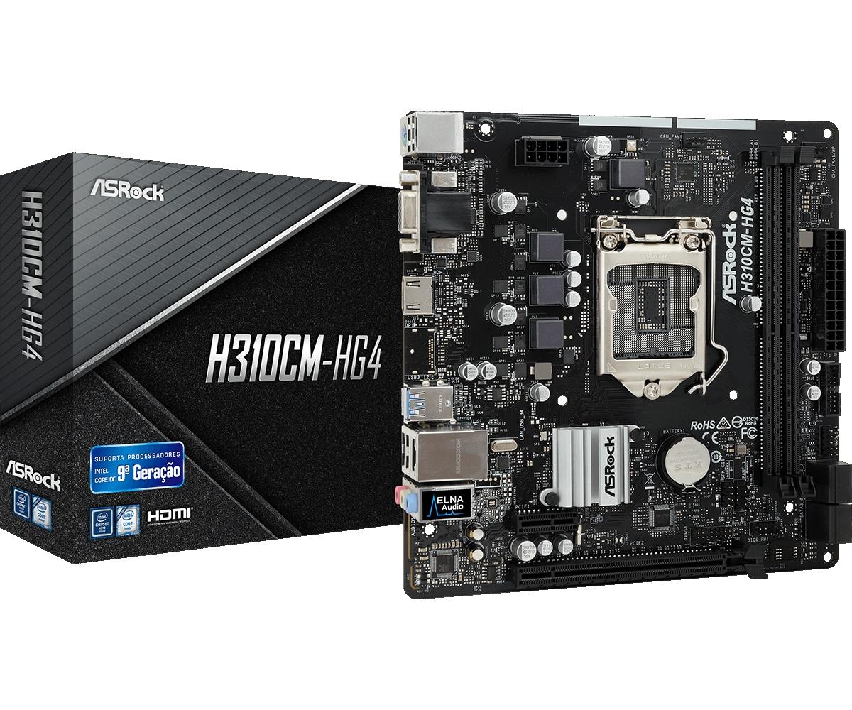 Placa-Mãe ASRock H310CM-HG4 Intel LGA 1151 mATX DDR4