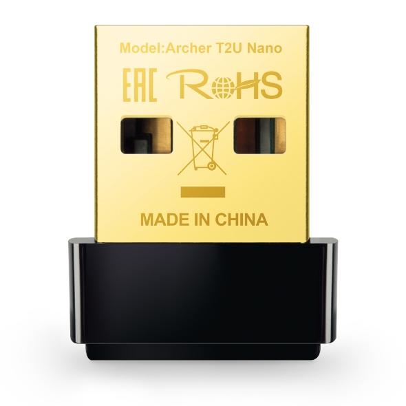 Adaptador Wireless TP-Link Archer T2U Nano AC600 USB