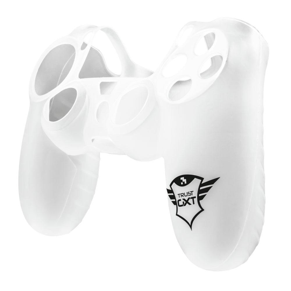 Capa em Silicone Trust GXT744T para DualShock PS4 Branco