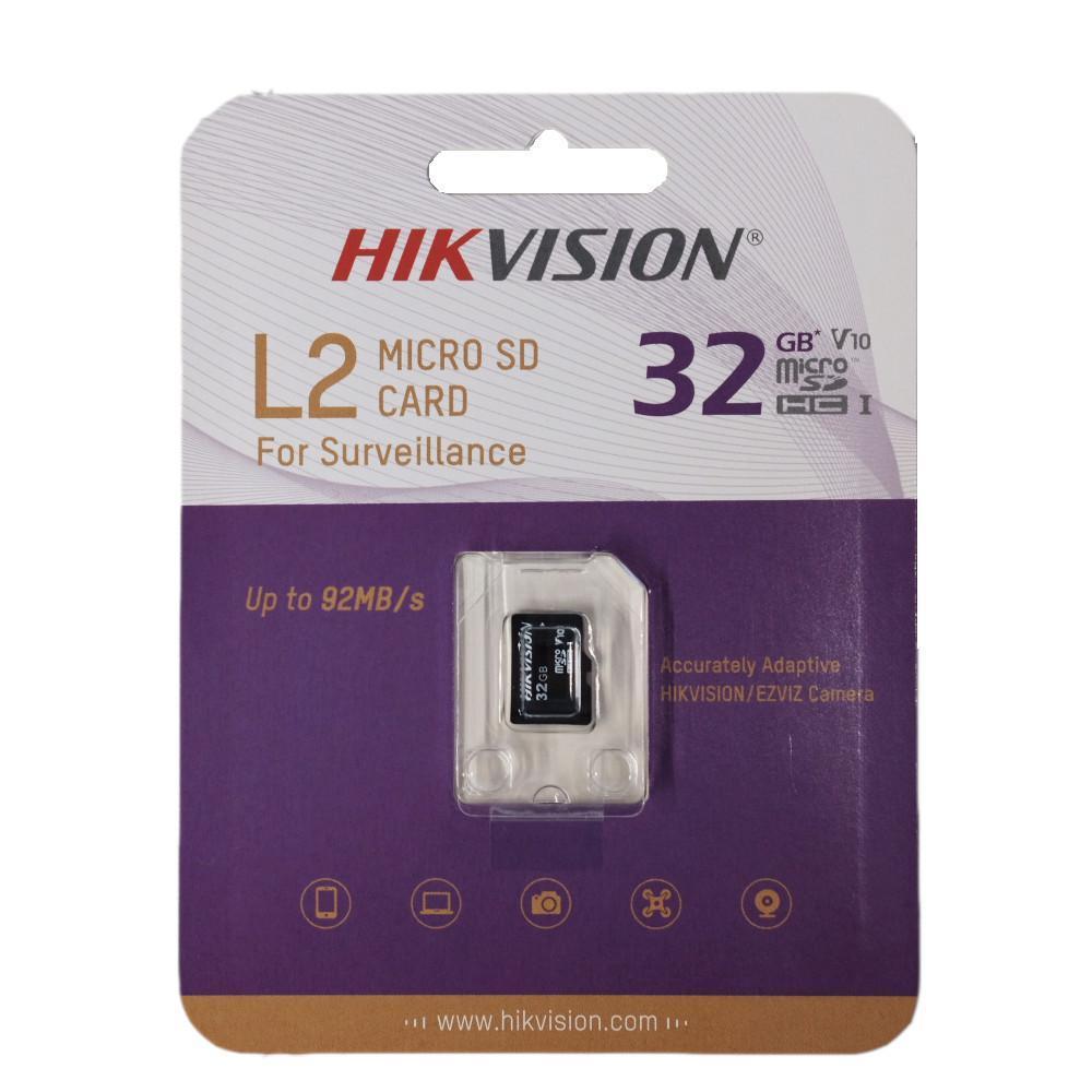 Cartão de Memória Hikvision MicroSDHC 32GB L2 Series C10