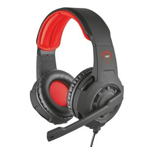 Headset Gamer Trust GXT 310 Radius Preto e Vermelho