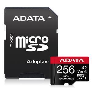 Cartão de Memória Adata MicroSDXC High Endurance 256GB C10