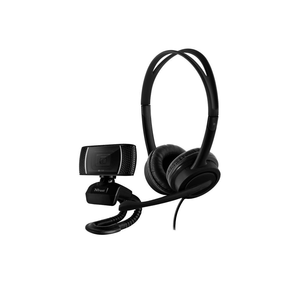 Conjunto Home Office Trust Doba com Webcam e Headset