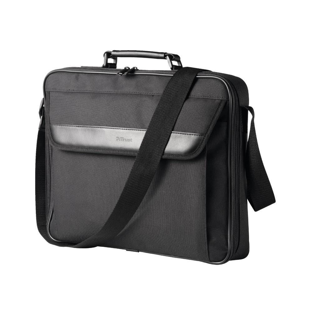 """Maleta Notebook Trust 17,3"""" Atlanta Carry Preta"""