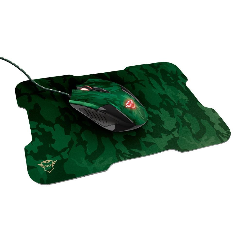 Mouse + Mousepad Gamer Trust GXT 781 Rixa Camuflado