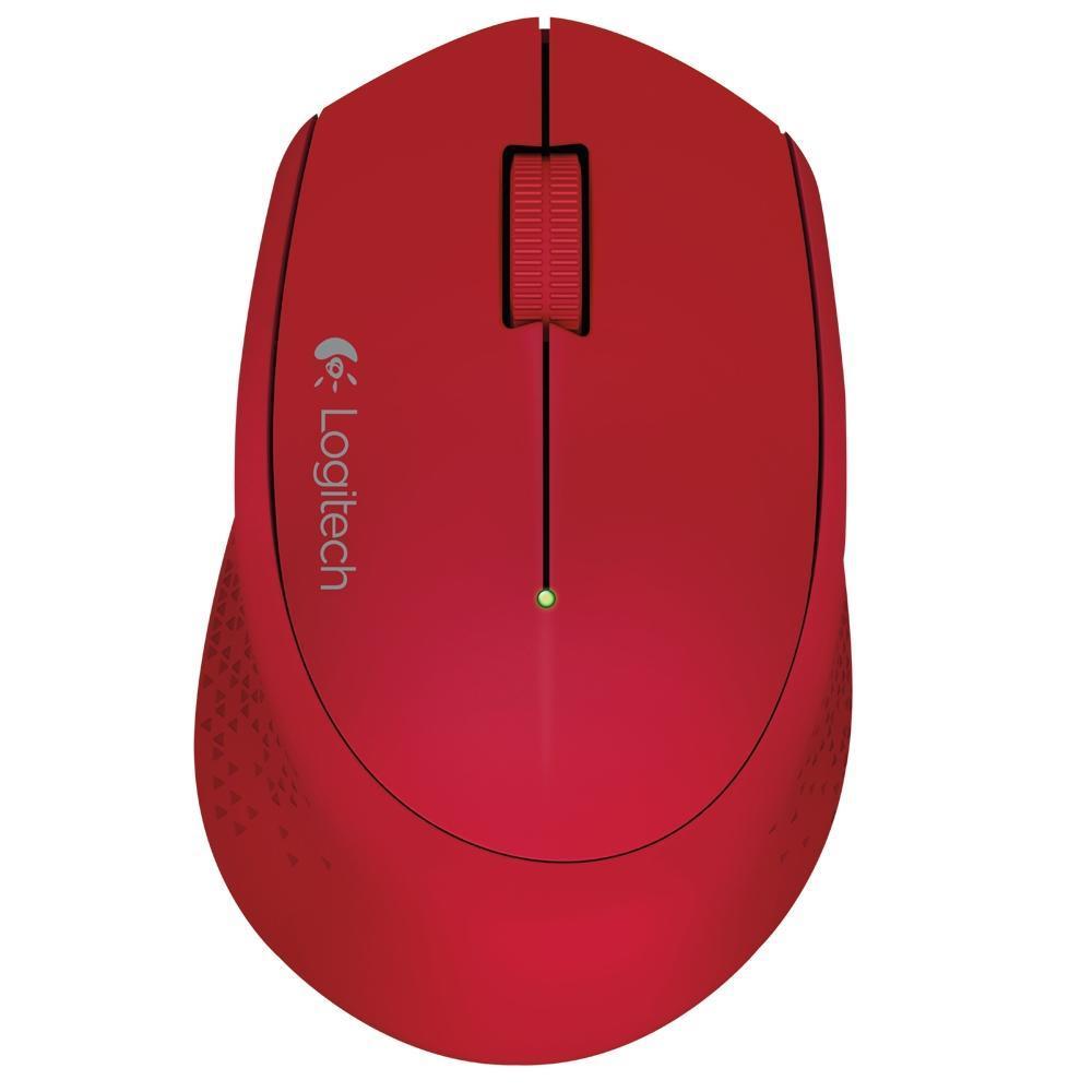 Mouse Sem Fio Logitech M280 Vermelho 1000DPI