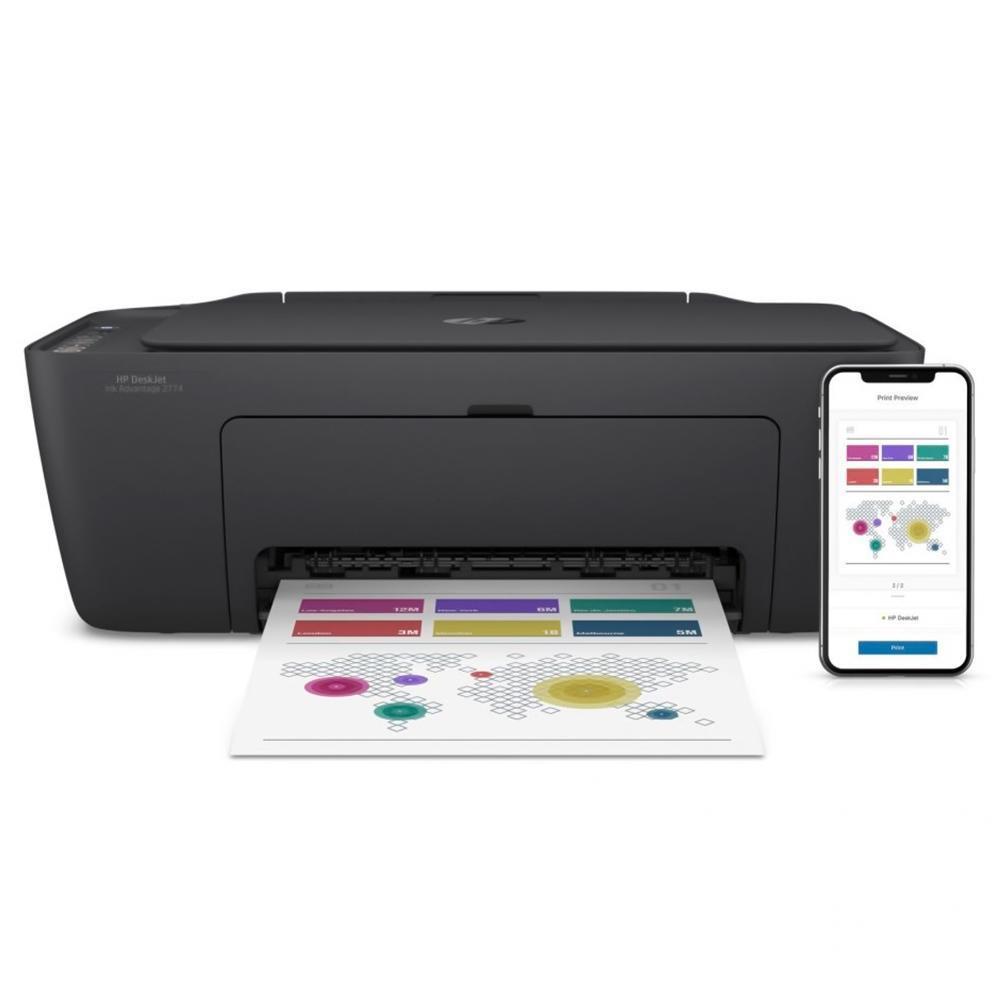 Multifuncional HP Ink Advantage 2774 Jato de Tinta Colorida Wi-Fi