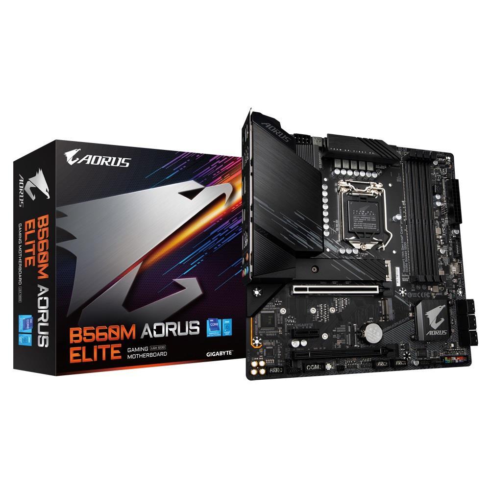 Placa-Mãe Gigabyte B560M Aorus Elite LGA1200 mATX DDR4